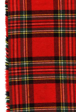 fleece fabric: Red scottish plaid