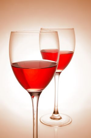 Red wine on pink background Stock Photo - 4493190