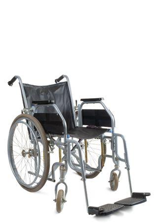 paraplegico: Silla de ruedas sobre un fondo blanco