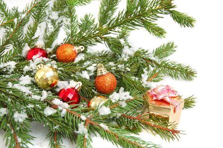Color Christmas balls decoration photo