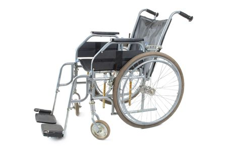 Wheel chair: Wheelchair on a white background