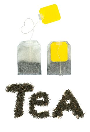 Two teabagsand word