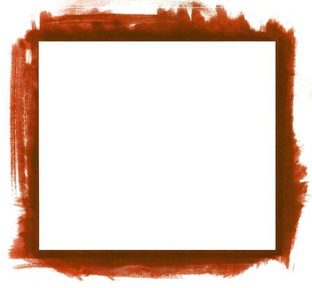 Red grunge abstract watercolour frame with space for your text or image. All elements painted by me. Stock Photo - 7826527