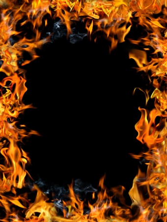 inferno: Bonfire frame on a black background