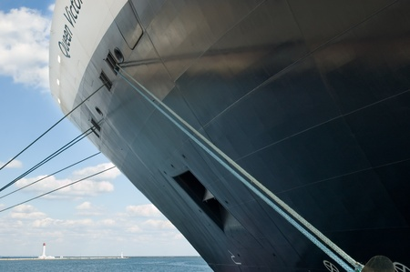 Odessa, Ukraine - September 04, 2011: Cruise ship Queen Victoria docked in a Odessa sea port. Stock Photo - 10651115