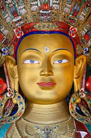 tibet: Maitreya Buddha Stock Photo