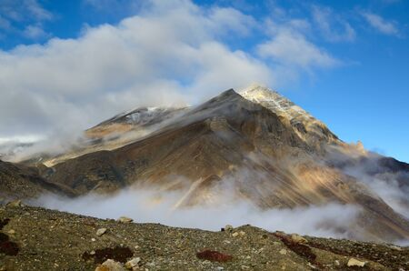 ladakh: View on a mountain in the Himalayas in Ladakh, India Stock Photo