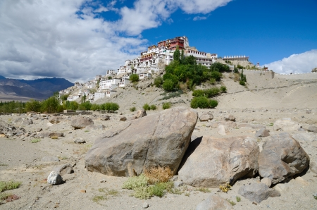 monastery nature: Thiksey Gompa, buddhist Monaster in the Himalayas in India, Ladakh.