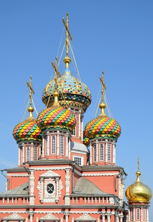 gorky: Nativity (Stroganov) church in Nizhny Novgorod, Russia. It was built in 1719 by Grigory Stroganov, one of the supporters of tsar Peter the Great. Stock Photo