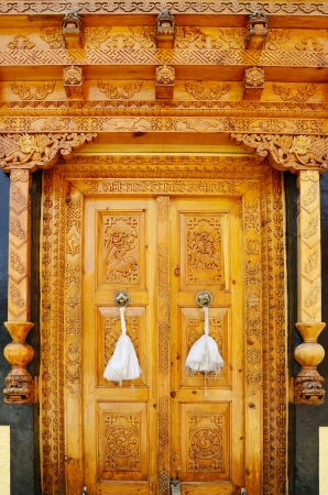 Old wood door in Buddhist monastery Stock Photo - 20170661
