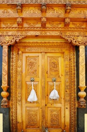 Old wood door in Buddhist monastery Stock Photo - 20170661