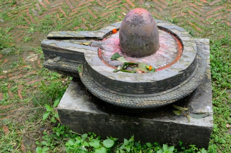 linga: Stone lingam, in Hindu temples represents the sexual male creative energy of Shiva