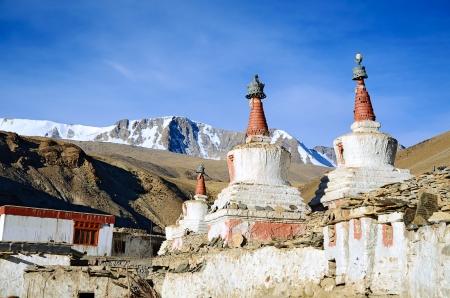 ladakh: Buddhist stupas (chortens) in Indian Himalayas in Ladakh
