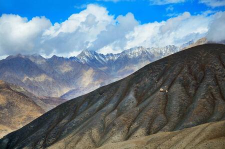 ladakh: View on the Himalayas mountains in Ladakh, Indi Stock Photo