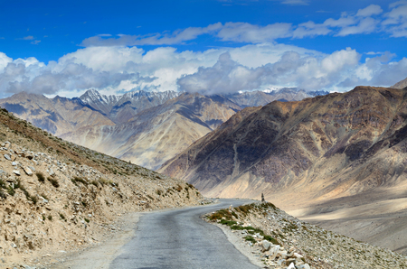 The high altitude Manali-Leh Highway in Indian Himalayas photo