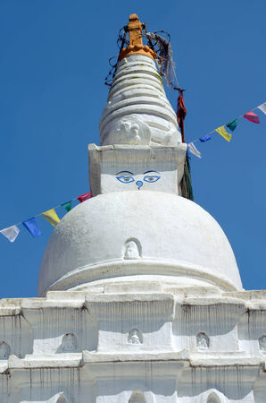 bodnath: Swayambhunath Stupa or Monkey Temple in Kathmandu Valley, Nepal