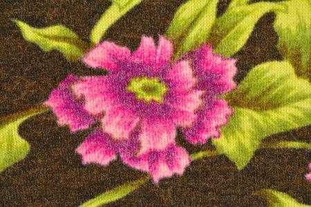 tejido de lana: El fondo de la tela de lana con un primer de la flor