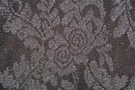 texture of brown lace fabric