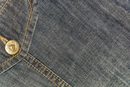 country western: background gray denim with a pocket Stock Photo
