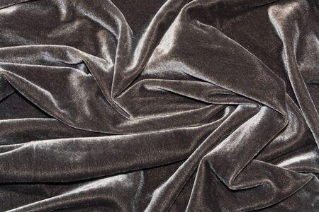 silky velvet: Dark Grey Velvet draped for background Stock Photo