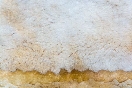fleecy: The beige imitation fur for background Stock Photo