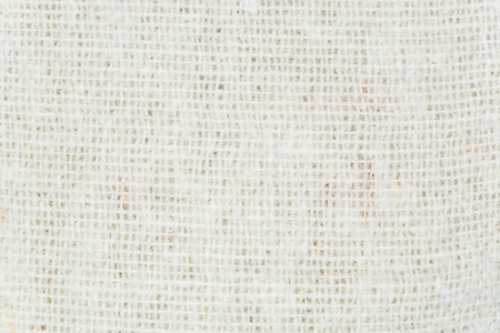 texture twisted: texture of white  twisted woolen threads closeup Stock Photo