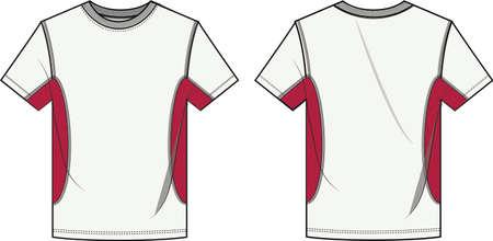 Men sports tee shirt cad