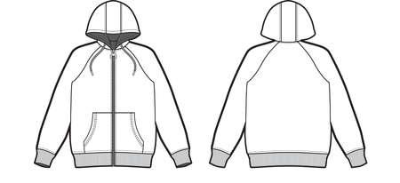 Men zip up hoodie cad