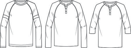 Men blank long sleeve tee shirt cad