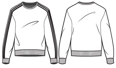 Men blank sweatshirt cad