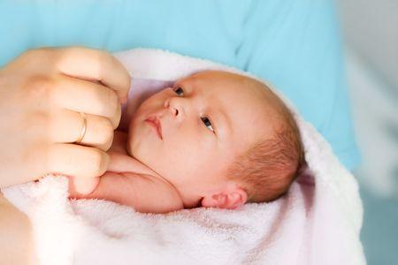 potrait of newborn baby in doctor's hands Stock Photo - 4941073