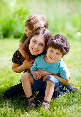 Family of three Stock Photo - 12550630