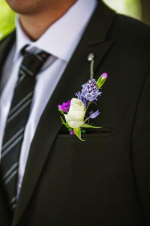 buttonhole: Grooms boutonniere