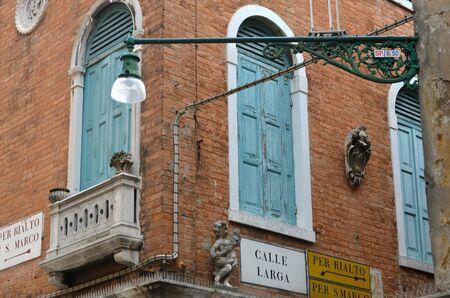 street signs: Street signs on a corner, Venice