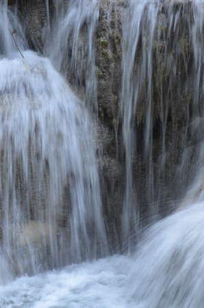 rushing water: A waterfall over rocks