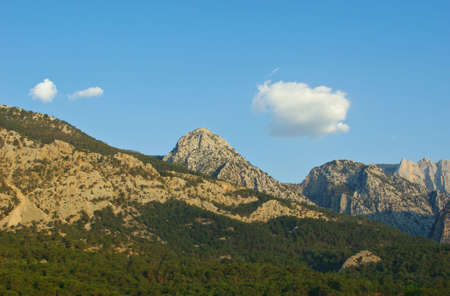 mountainscape: Taurus (Torso) mountain chain In Turkey in early morning Stock Photo