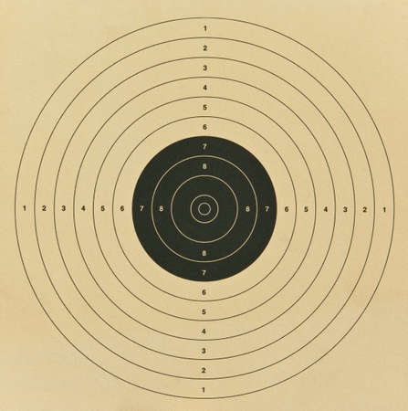 Close view to old paper target Standard-Bild