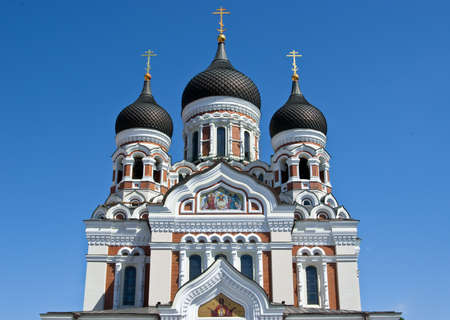 estonia: St. Alexander Nevsky orthodox church in Tallinn, Estonia Stock Photo