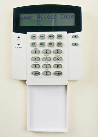 Security system requiring  to enter access code photo