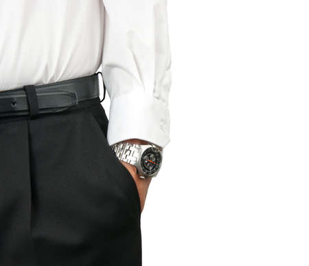 Man holding hand in pocket