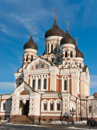 nevsky: St. Alexander Nevsky cathedral in Tallinn, Estonia