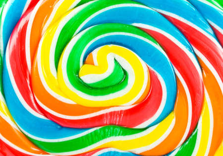 Big colorful lollipop close up can be used for background