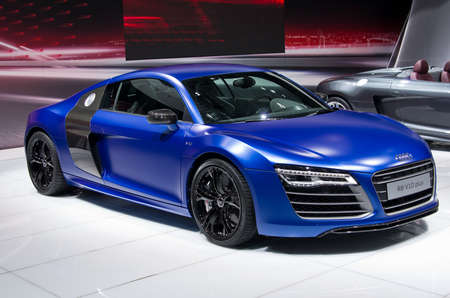 MOSCOW, Russia - SEPTEMBER 6, 2012: World premiere of Audi R8 Coupe at the Moscow International Automobile Salon