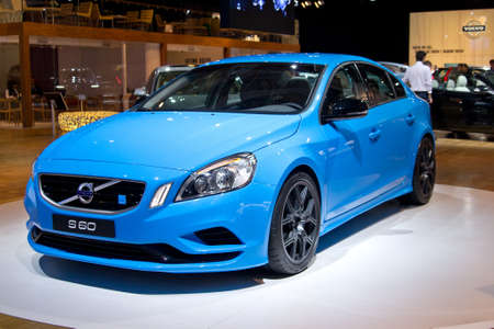 MOSCOW,RUSSIA-SEPTEMBER 6, 2012: Volvo S60 at the Moscow International Automobile Salon