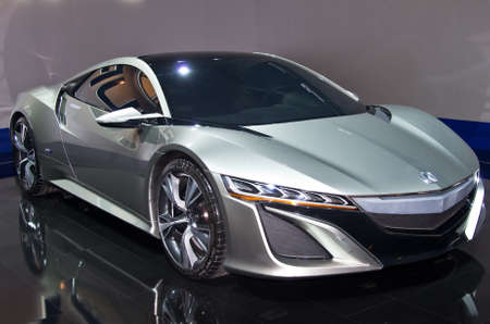 acura: MOSCOW, RUSSIA-SEPTEMBER 6, 2012: Honda Acura NSX Concept at the Moscow International Automobile Salon