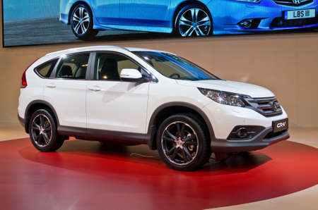honda: MOSCOW, RUSSIA-SEPTEMBER 6, 2012: Honda CR-V at the Moscow International Automobile Salon