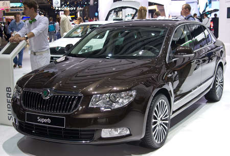 MOSCOW, RUSSIA-SEPTEMBER 6, 2012: Skoda Superb at the Moscow International Automobile Salon