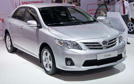 MOSCOW, RUSSIA-SEPTEMBER 6, 2012: Toyota Corolla at the Moscow International Automobile Salon