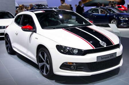 MOSKOU, RUSLAND-06 september 2012: Volkswagen Scirocco GTS op de Moscow International Automobile Salon Redactioneel
