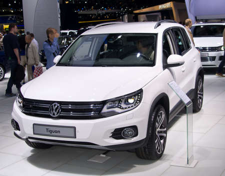 MOSCOW, RUSSIA-SEPTEMBER 6, 2012: Volkswagen Tiguan at the Moscow International Automobile Salon